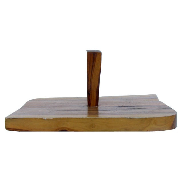 Highly figured, artisan-created wood charcuterie / cheese board with sculptural appeal. Wavy asymmetrical shape with...