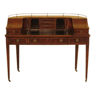 1940s Federal Mahogany Carlton House Writing Desk For Sale