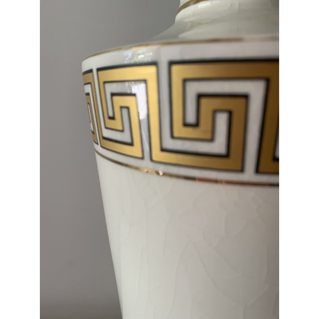 Regency Greek Key Table Lamps - a Pair For Sale - Image 9 of 12