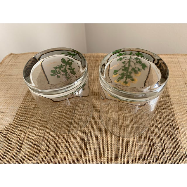 Metal 1950s Vintage Culver 'Thyme & Parsley' Old Fashion Glasses - a Pair For Sale - Image 7 of 12