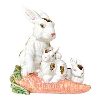 Vintage Provencal Ceramic Bunny Statue For Sale