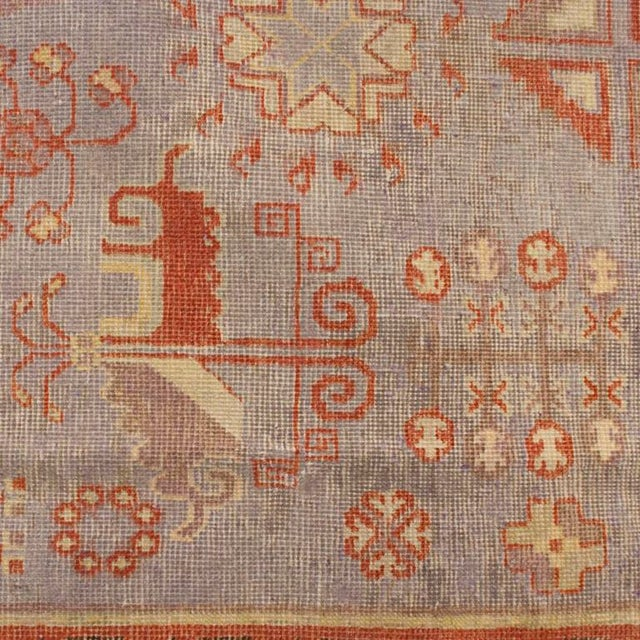Asian Early 20th Century Central Asian Khotan Carpet - 8' x 16' For Sale - Image 3 of 6