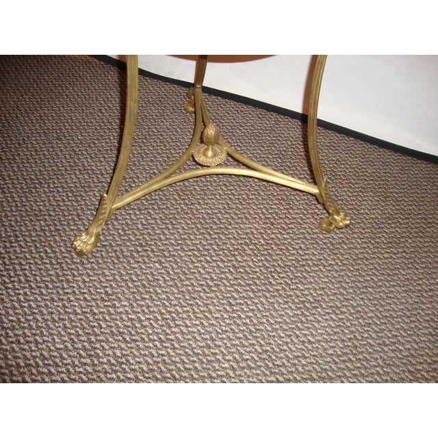 Bronze & Marble Two Tier Gueridon Side Table - Image 4 of 9