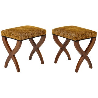 French Empire Curule Benches - a Pair For Sale