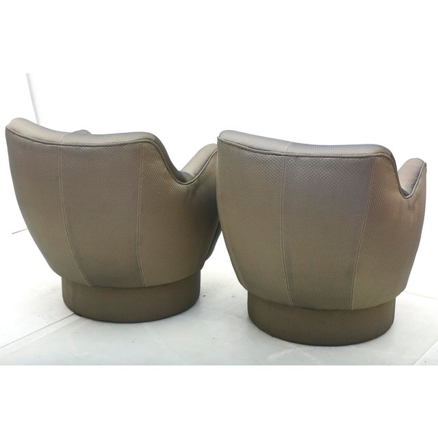 Early and Rare American Modern Pair of Barrel Swivel Chairs, Vladimir Kagan For Sale - Image 10 of 10