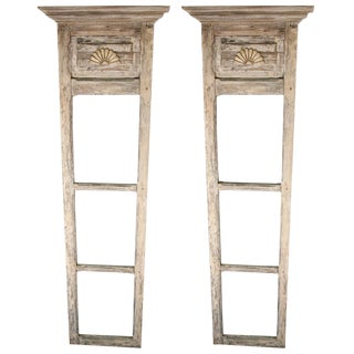Pair of 18th-19th Century Door Trumeau Mirrors For Sale