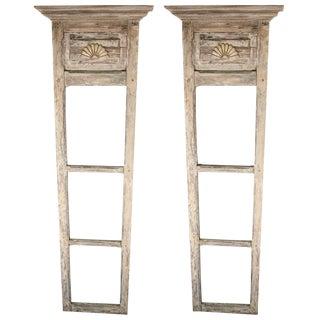 Pair of 18th-19th Century Door Trumeau Mirrors