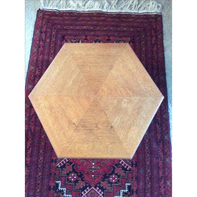 Heritage Teak Hexagon Side Table - Image 5 of 6