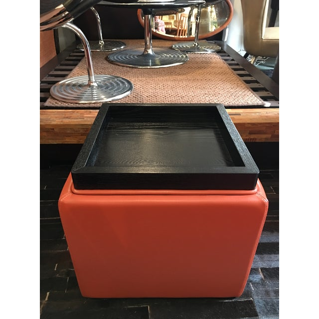 Crate Barrel Storage Ottoman With Tray Chairish
