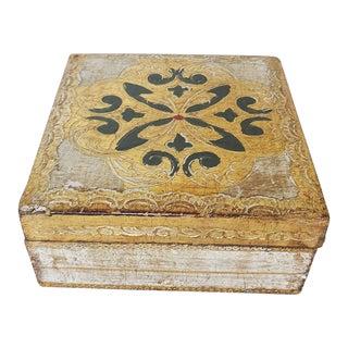 Vintage Mid-Century Florentine Gilded Trinket Box For Sale