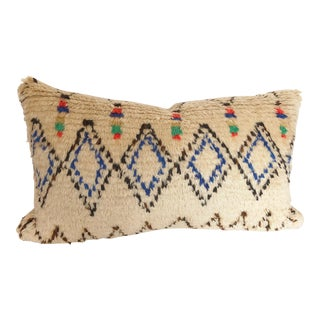 Custom Pillow Cut from a Vintage Moroccan Azilal Rug For Sale