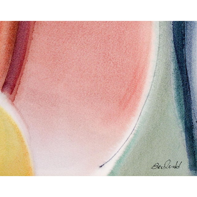 Bee Judd Abstract Watercolor Painting - Image 2 of 3