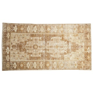 "Distressed Oushak Rug Runner - 3'6"" X 6'9"" For Sale"