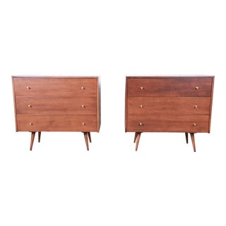 Paul McCobb Planner Group Three-Drawer Bachelor Chests or Large Nightstands, Pair For Sale
