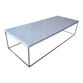 Room & Board Marbled White Quartz Tyne Coffee Table For Sale