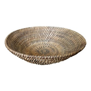 Rattan Coiled Basket Bowl Wall Art For Sale