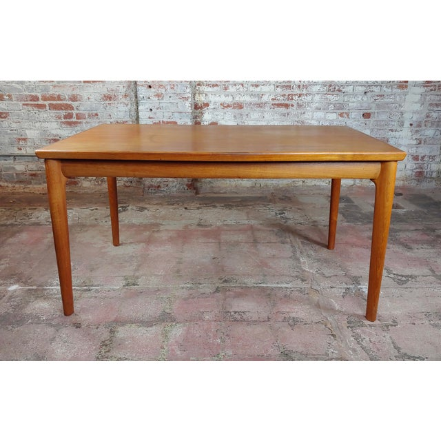 Mid-Century Modern Danish Mid-Century Teak Dining Table W/6 Chairs by Koefoeds Hornslet For Sale - Image 3 of 12