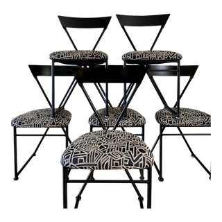 Shaver Howard Post Modern Triangle Back Dining Chairs - Set of 6 For Sale