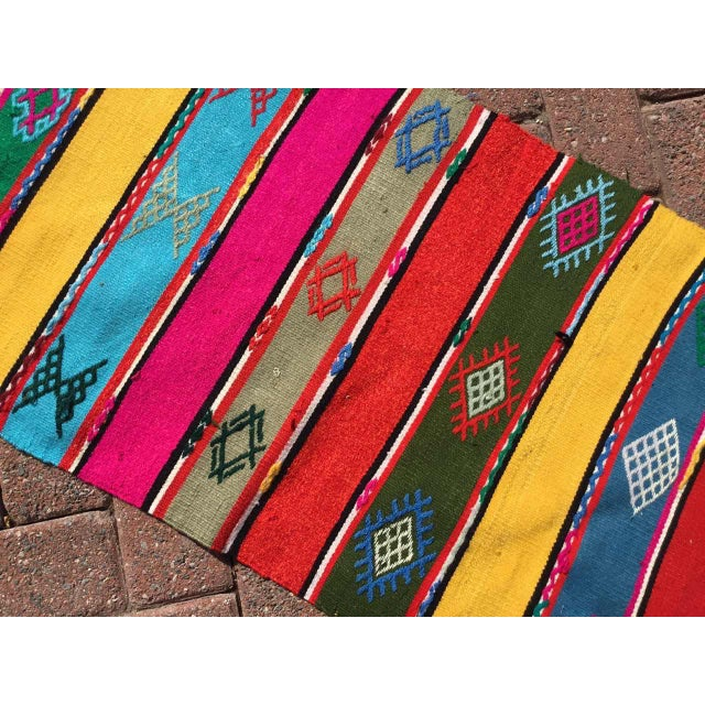 Colorful Turkish Kilim Rug For Sale In Raleigh - Image 6 of 9