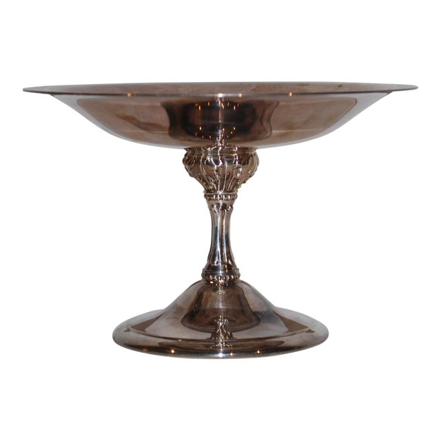 1940s Vintage Silver Compote For Sale