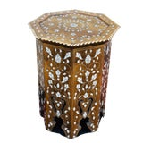 Image of 1940s Mother of Pearl Inlay Side Table For Sale