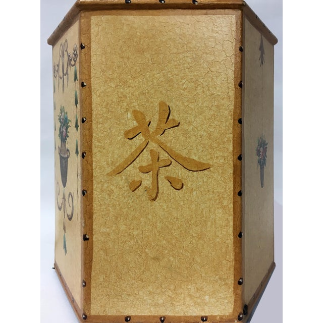 Vintage Chinese Export English Tea Caddy Lamps For Sale - Image 12 of 13
