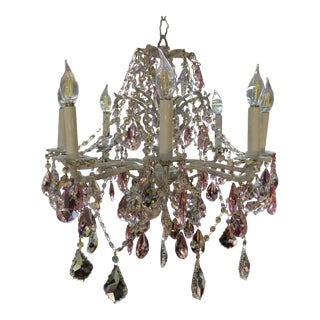 Custom Made Swarovski Crystal Chandelier For Sale