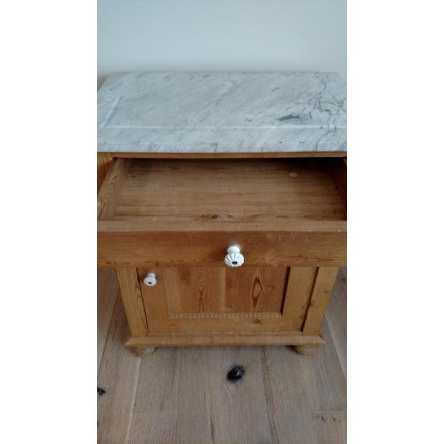 Antique Pine Swedish Nightstand - Image 7 of 9
