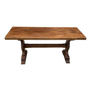 1900s French Oak Normandy Coffee Table For Sale