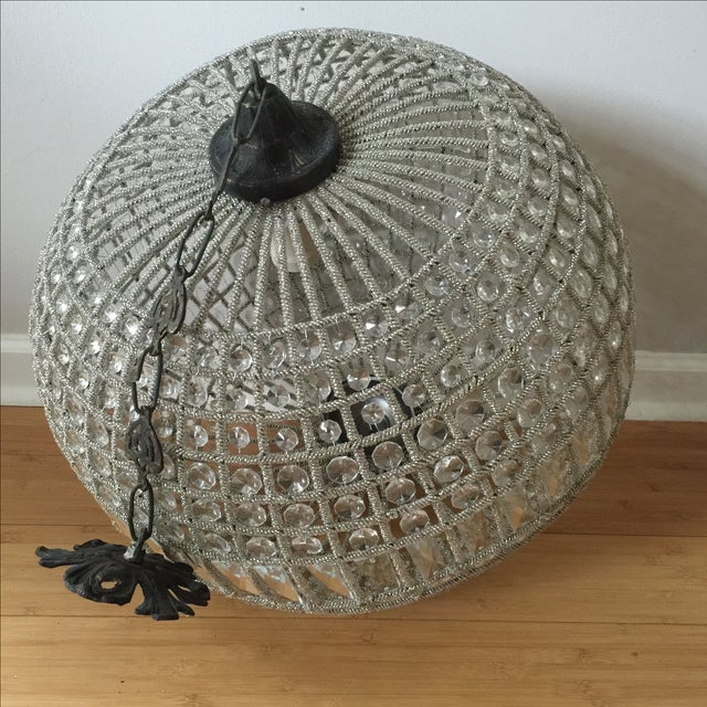 Modern French Pendant Crystal Sphere For Sale - Image 5 of 10
