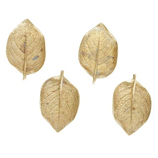 Vintage Brass Episcea Leaves - Set of 4 For Sale