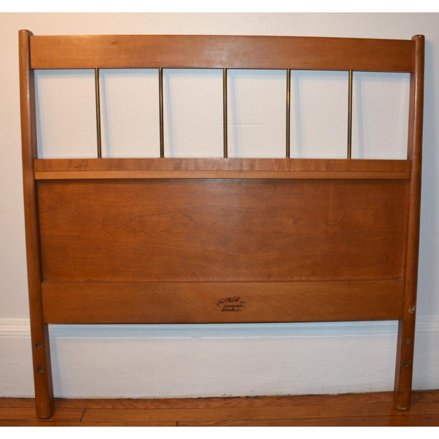 Gold Paul McCobb Mid-Century Modern Twin Headboards - a Pair For Sale - Image 8 of 11