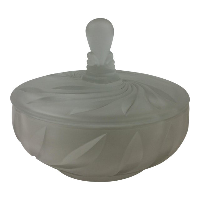 Pressed Glass Covered Dish For Sale