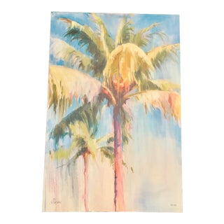 Limited Edition Large Watercolor Palm Tree Glicee Print For Sale