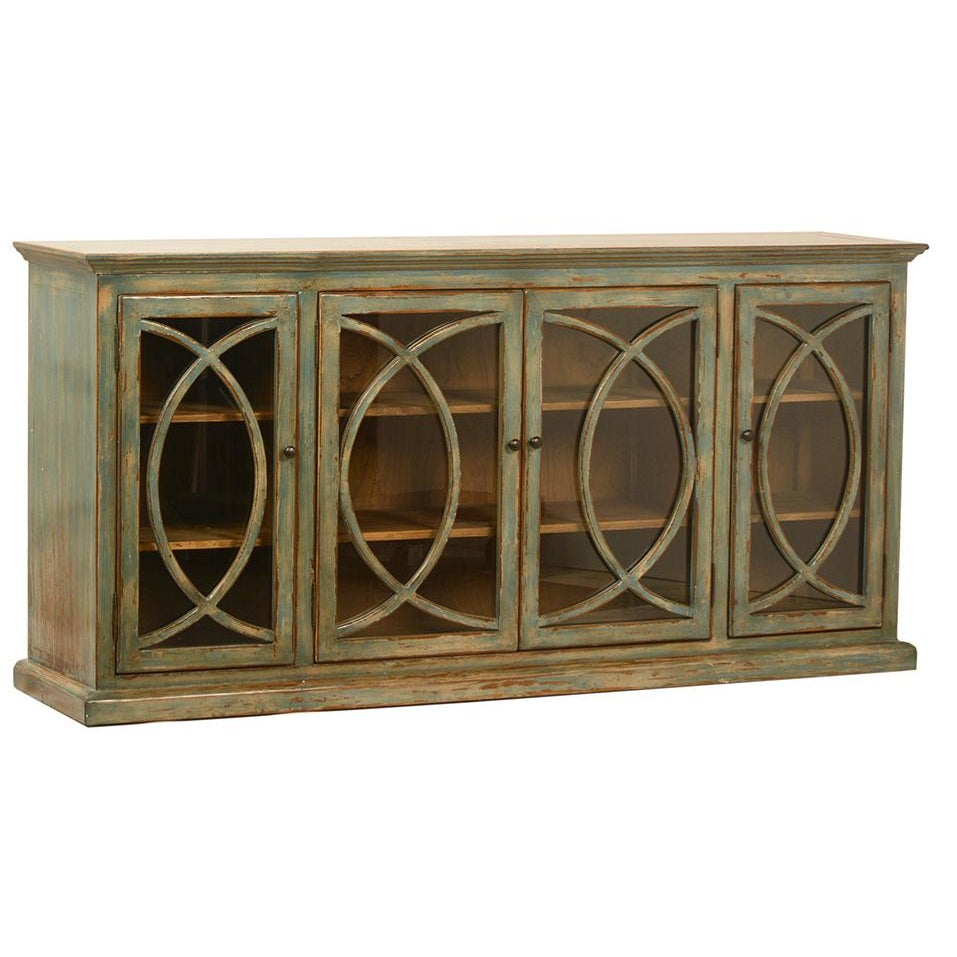 Deco Glass Door Sideboard Chairish