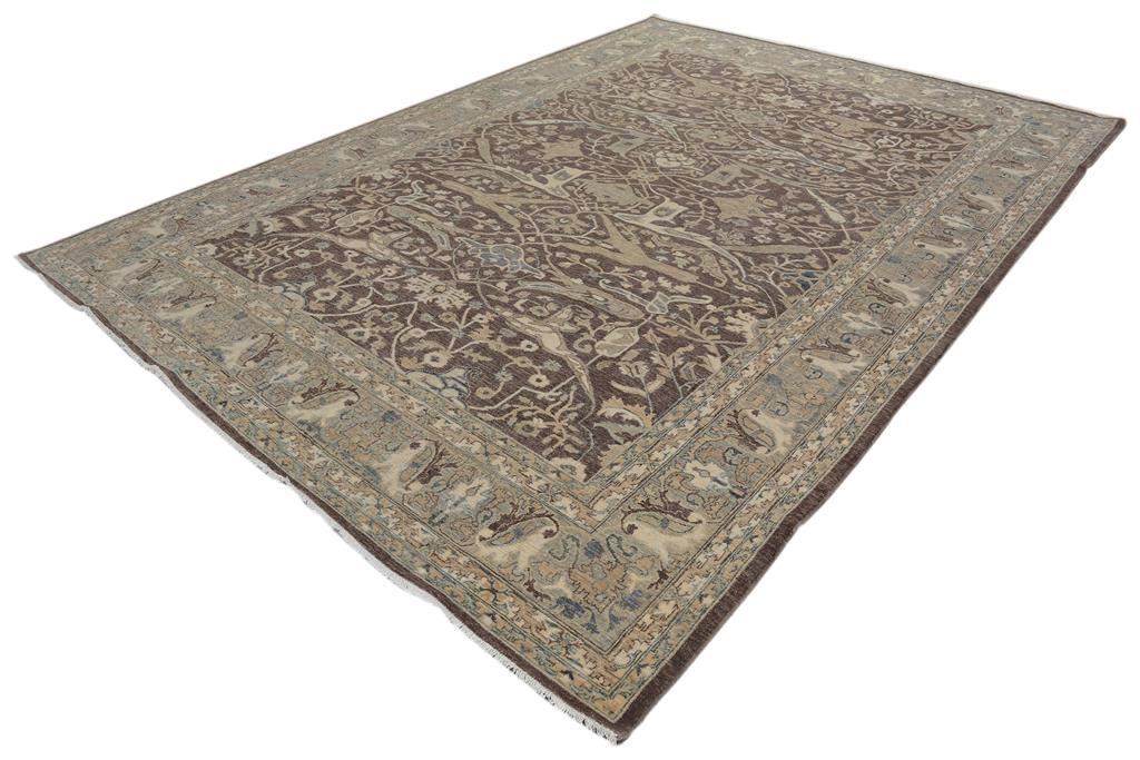 Kafkaz Peshawar German Brown Amp Gray Wool Rug 9 10 Quot X 13