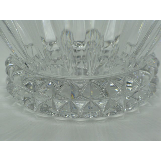 German Brutalist crystal centerpiece fruit bowl by Rosenthal, Germany. Signed on bottom.