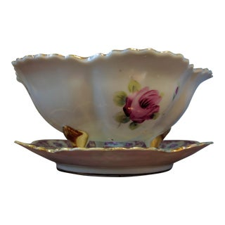 Antique Nippon Pierced Berry Bowl With Underplate - a Pair For Sale