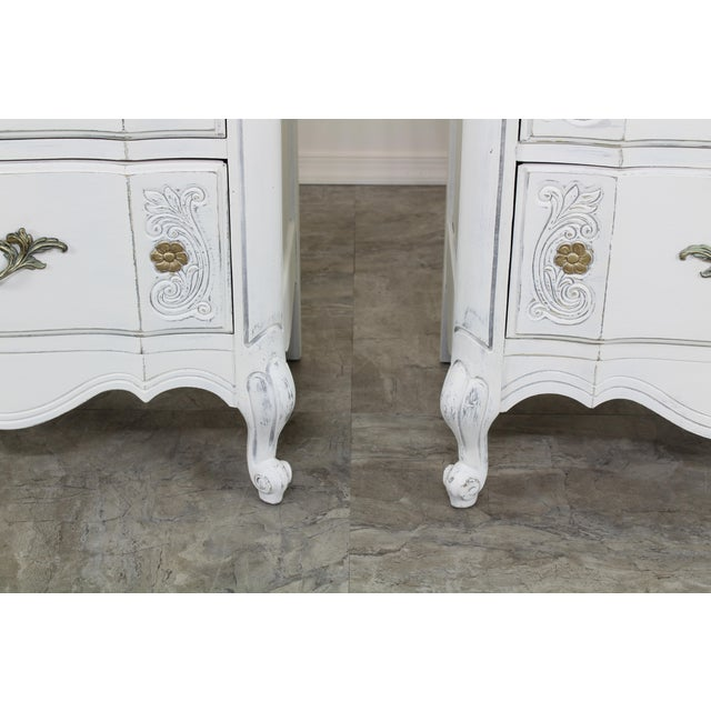 Vintage White French Provincial Nightstands - a Pair For Sale - Image 9 of 13