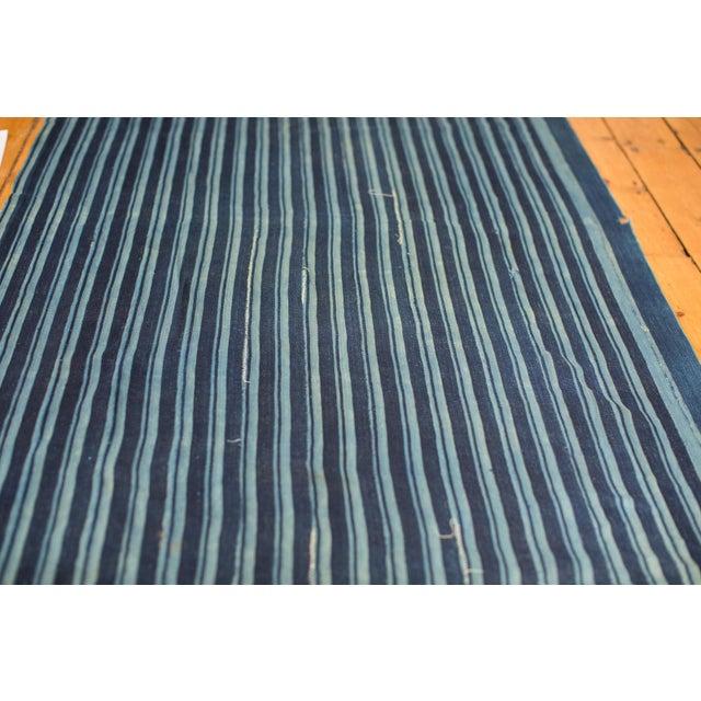 African Indigo Blue Striped Throw - Image 2 of 4