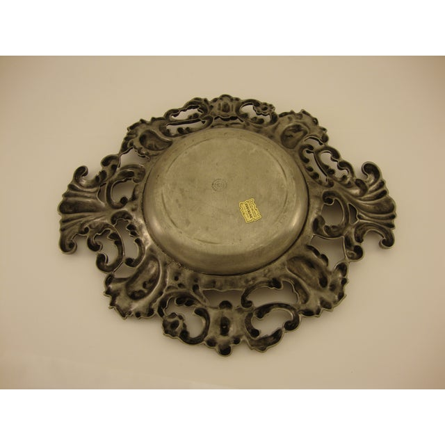 Vintage Baroque Italian Pewter Catchall - Image 4 of 5