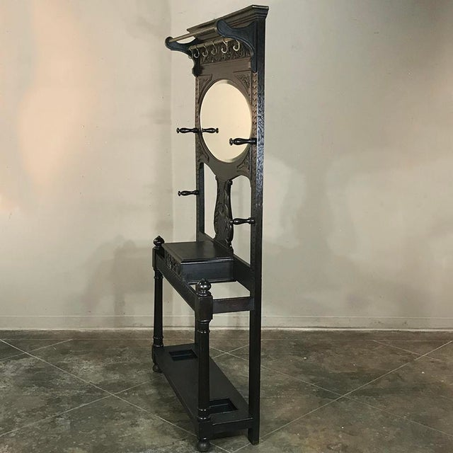 Metal 19th Century French Renaissance Hall Tree For Sale - Image 7 of 12