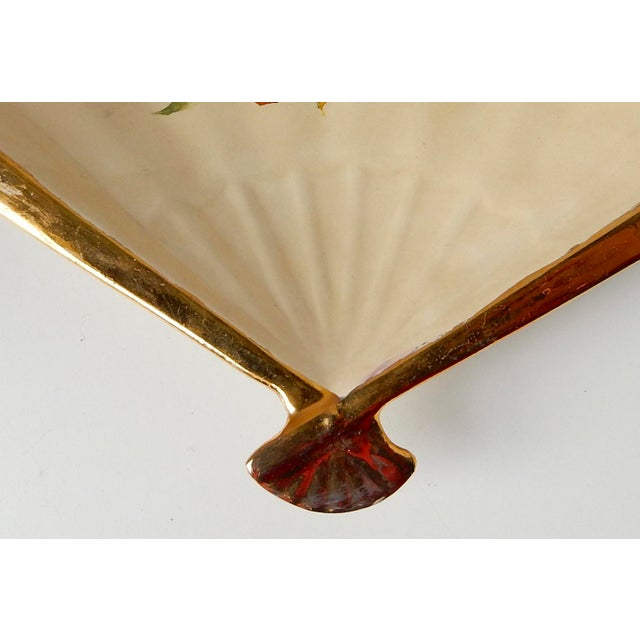 Vintage Fan Shaped Plates - Set of 8 For Sale - Image 9 of 9