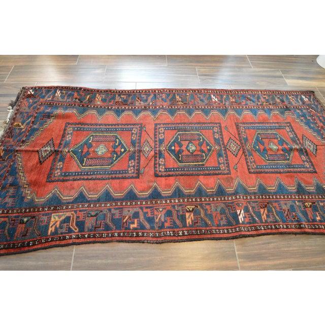 Antique Persian Kelardasht Rug Runner - 4′3″ × 8′6″ For Sale - Image 4 of 10