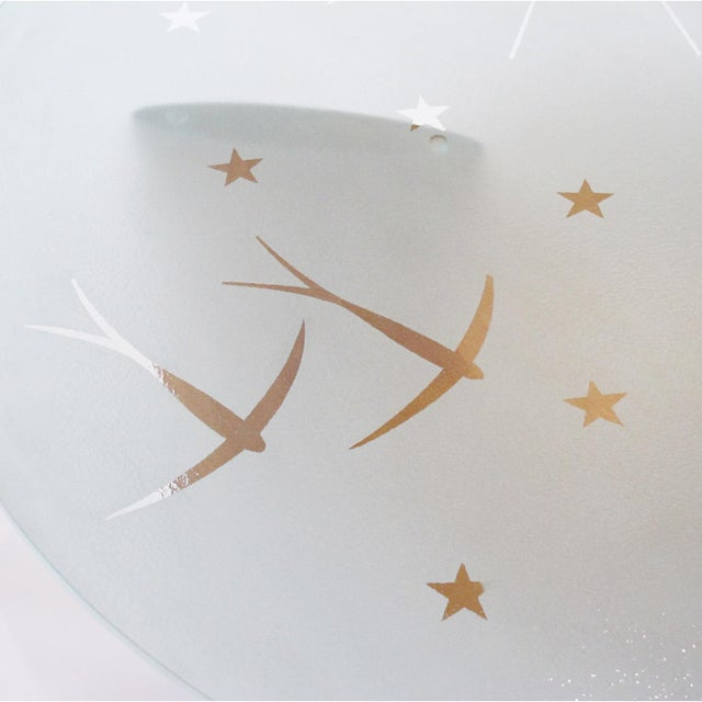 Art Deco Coffee Table Saint Gobain Glass-Top Aviation Decor For Sale In Atlanta - Image 6 of 12