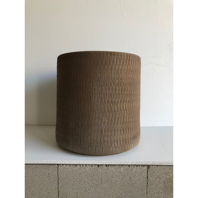 Sienna Mid Century Planter by Gainey Ceramics Sgraffito Collection For Sale - Image 8 of 8