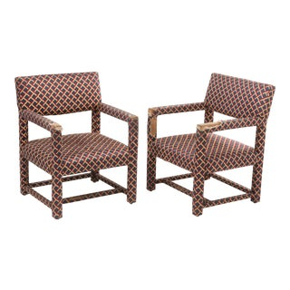 Milo Baughman for Thayer Coggin Parsons Style Chairs- a Pair For Sale