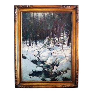 "American Impressionist Painting ""The Woodland Brook"" by Luther Emerson Van Gorder (1857-1931) For Sale"