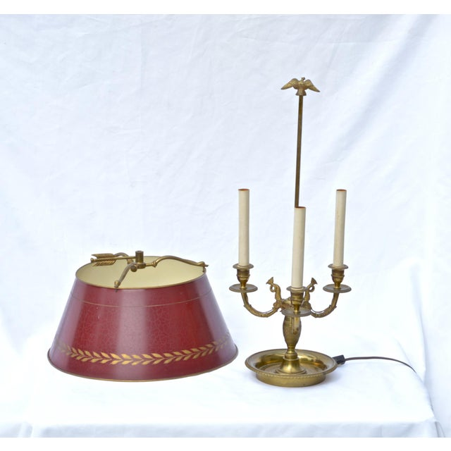 Brass French Empire Bouillotte Lamp For Sale - Image 7 of 7