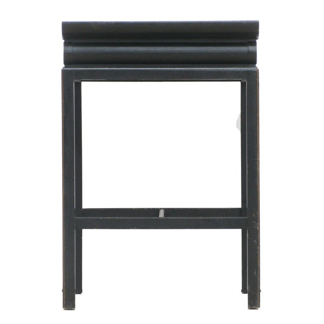 Looking for a statement piece for an entry or hallway? This elegant black and gold lacquered table with Greek key accents,...